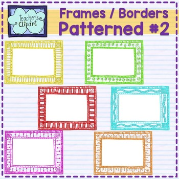 Patterned frames - borders {set # 2} - Teacher's Clipart