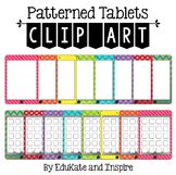 Patterned Tablet Clip Art