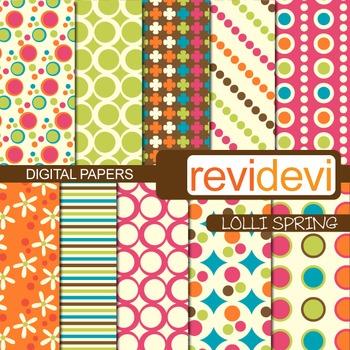 Patterned paper design for background - Lolli spring