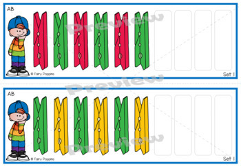 Patterning Activities with Pegs {Math Center} Set 2