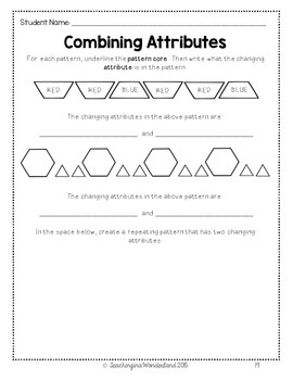 grade 2 patterning activity packet by
