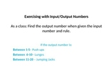 Get Active with Input/Output Numbers - Junior Patterning/Algebra
