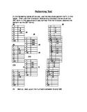 Patterning/Algebra Test