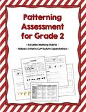 Patterning Assessment for Grade 2 {Ontario Curriculum}