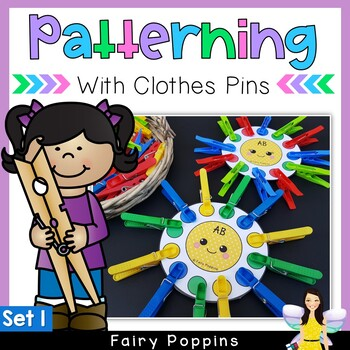 Patterning Activities with Pegs {Math Center} Set 1