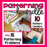 Patterning Activities and Worksheets for Pattern Blocks BUNDLE