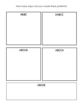 Patterning Challenge/Assessment - Grade 1 & 2