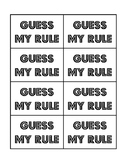 Patterning: Guess my Rule