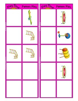 Patterning Mat and Card Game {Play Time Pattern Play} Common Core Aligned