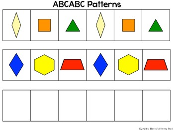 Pattern Block Mats and Linking Cube Mats for Practicing Making Patterns