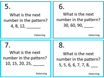 Patterning--Number Sense Task Cards