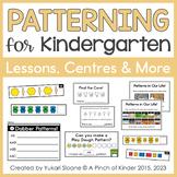 Patterning for Kindergarten: Centres, Printables & More