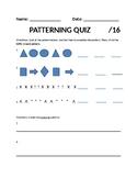 Patterning Quiz - Grade 2