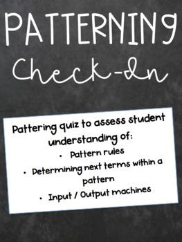 Patterning Quiz (Math)