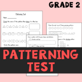 Patterning Test for Second Grade