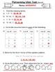 Patterning Test  or  Patterns Quiz - split grades 3, 4, 5, 6
