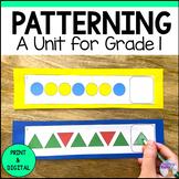 Patterning Unit (Grade 1) - 2020 Ontario Curriculum