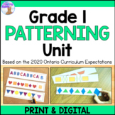 Patterning Unit for Grade 1 (Ontario Curriculum)