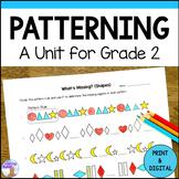Patterning Unit (Grade 2) - 2020 Ontario Curriculum