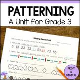 Patterning Unit for Grade 3 (Ontario Curriculum)