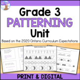 Patterning Unit for Grade 3 (Ontario Curriculum)