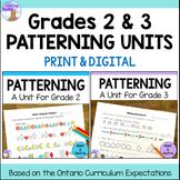 Patterning Units for Grades 2 & 3 (Ontario Curriculum)