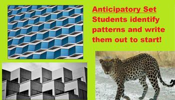 Patterning and Algebra