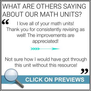 Algebra Unit (Variables, Expressions & Equations) - Grade 8 Math Unit