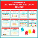 Patterning and Math Problem-Solving Cards Bundle