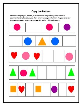 Patterning/ Sequencing worksheets
