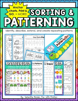 Patterning: identifying, describing, extending, & creating repeating patterns