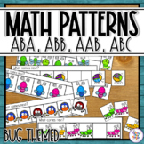 Pattern Activity Task Cards & Worksheets with ABAB, ABB, AAB, ABC patterns