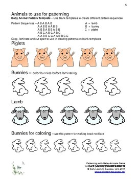 Patterning with Baby Animals Game
