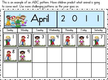 Patterning with Calendars-Cool Kids