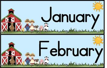 Patterning with Calendars-Down on the Farm
