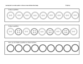 Patterning with buttons