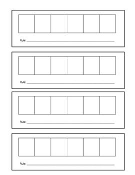 Patterning worksheet