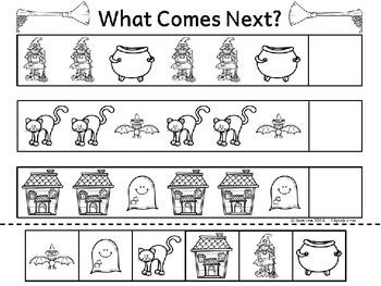 Math Patterns Repeating Patterns (Halloween Theme)