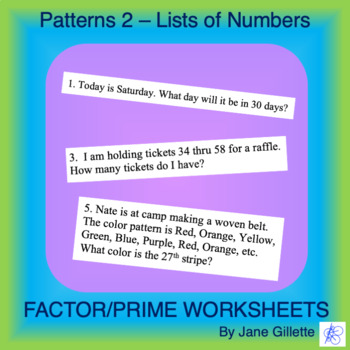 Patterns 2 - Lists of Numbers