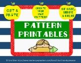 Kindergarten Pattern Printables
