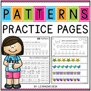 Math Patterns Worksheets and Center Activity