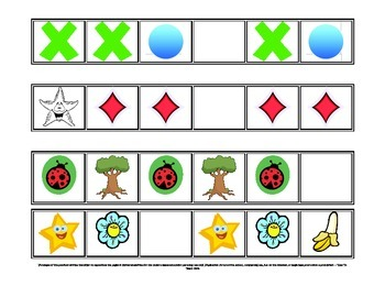 Patterns 2nd Version Math Center, Classroom Game- Digital Download