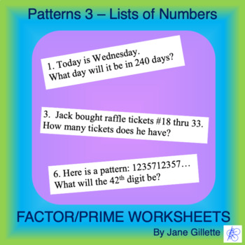 Patterns 3 - Lists of Numbers