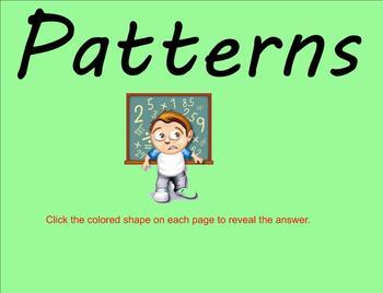 Patterns - 5th grade Smartboard Lesson
