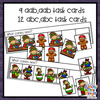 Patterns - AB, ABB, AAB, ABC - Christmas Themed