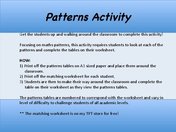 Patterns Activity