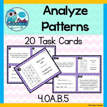 Patterns *Analyzing* - (4.OA.B.5)