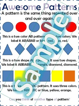 Patterns Anchor Chart