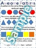 Preschool Patterns Anchor Chart