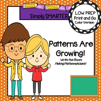 Patterns Are Growing!:  LOW PREP Write the Room